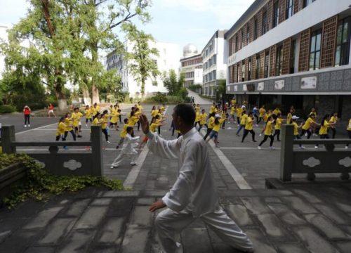 传承太极拳,弘扬华夏情:华裔青少年学习太极拳